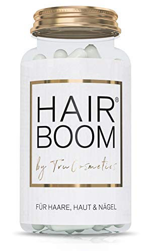 HAIR BOOM - Haarvitamine   Haare, Haut, Nägel   hochdosiert   60 vegane Kapseln