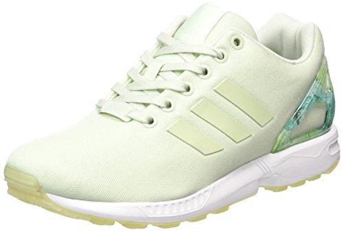 adidas Damen ZX Flux Sneaker, Grün (Linen Green/Linen Green/Footwear White), 39 1/3 EU (Street-sport-schuh)
