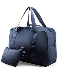 6912a5294f7aa BAGZY Faltbare Reisetasche Wasserdicht Hand Luggage Cabin Bag Sporttasche  Koffer Gepäck Handgepaeck Tasche Suitcase Organizer Carry on…