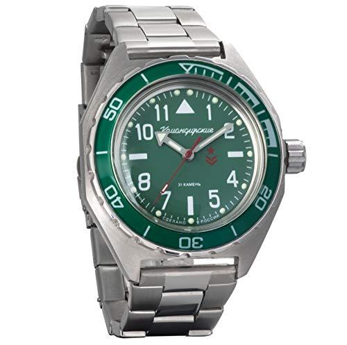 Vostok komandirskie Military Russian Mechanical self-winding Mens Wrist Watch 2416b/650856