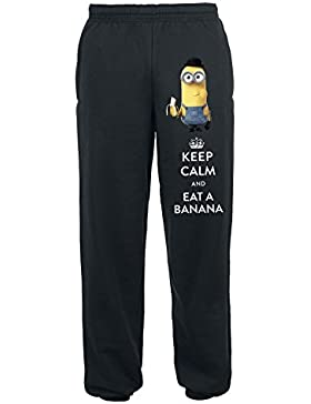 Minions Keep Calm And Eat A Banana Jogginghose schwarz