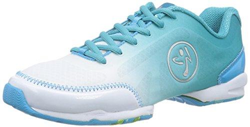 Classic femme Blau Footwear Zumba Zumbaflex Curacao Blue White Chaussures Fitness de xEwpTw