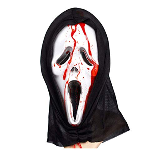 YaPin Halloween Blut Screaming Mask Ghost Maske Horror Maske Kopfbedeckungen Devil Mask Screaming Lustige Scary Gesicht Skelett Maske (Halloween Makeup-tipps Skelett)