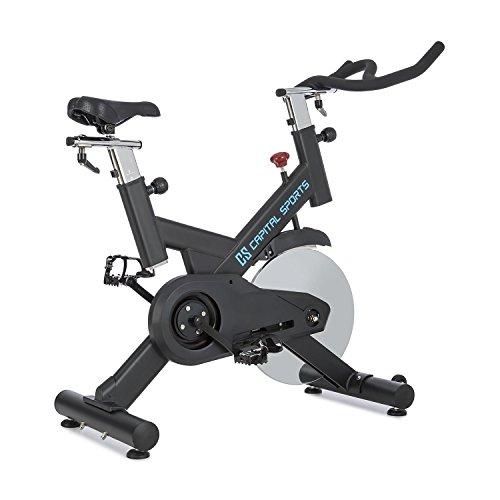 CAPITAL SPORTS Spinnado Pro 18 • Indoor Bike • Fahrradergometer • Heimtrainer • Trainingsrad • bis 120 kg • inkl. Drehregler • verstellbarer Sattel • gewuchtete Schwungscheibe mit 18 kg • schwarz