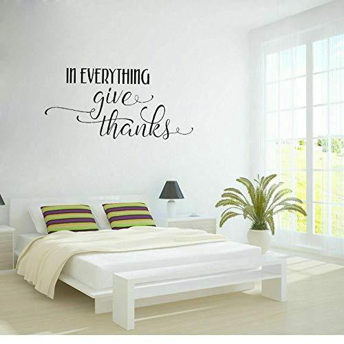 WandaufkleberIn alles geben Dank Thanksgiving Dekor PVC-Wandaufkleber für Kinderzimmer63,8 cm * 29,9 cm