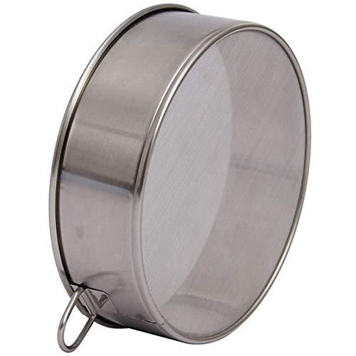 XZANTE Professionelles Rundes Fein Mehlsieb Aus Edelstahl, 60 Mesh, 304 Stahl - Silber