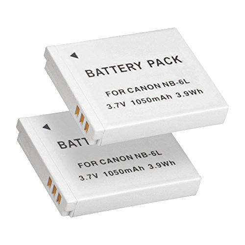 NB-6L & NB-6LH Battery, BPS 2pcs Fully Decoded Battery for Canon PowerShot SX710, PowerShot SX610, SX530, SX600, SX270, D30 Point and Shoot Digital Camera, Canon Battery Charger CB-2LYE