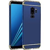 Funda Samsung Galaxy S9 Plus,2ndSpring Carcasa Galaxy S9 Plus + Cristal Templado, Luxury 3 en 1 Desmontable Ultra-Delgado Anti-Arañazos Case Cover Funda para Samsung Galaxy S9 Plus Azul