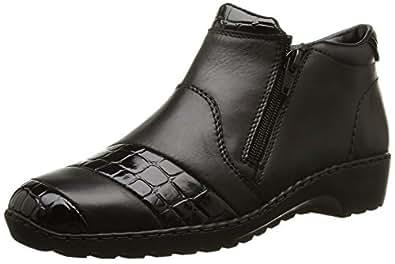 Rieker L6081-00, Sneakers Hautes femme, Noir, 37 EU (4 UK)