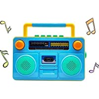 Wonder Creatures Old Classical Tape Recorder Radio Musical Toy with Light and Sound Effects for Kids (Multicolor…