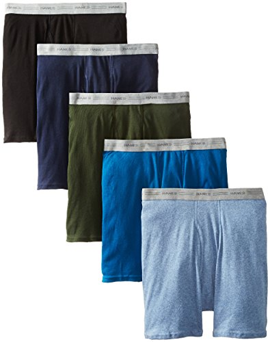 Hanes TAGLESS® Men's Boxer Briefs 5-Pack XL Assorted