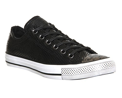 Converse - Chuck Taylor All Star Core Leather Ox, scarpe tecniche  da donna Nero (Snake Leather And Fur Black)