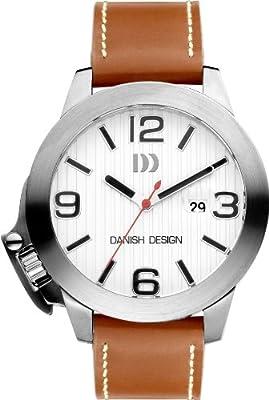 Danish Design DZ120087 - Reloj para hombre, correa de cuero color marrón de Danish Design