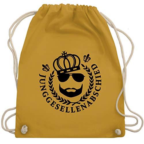 JGA Junggesellenabschied - JGA King Vollbart - Unisize - Senfgelb - WM110 - Turnbeutel & Gym Bag