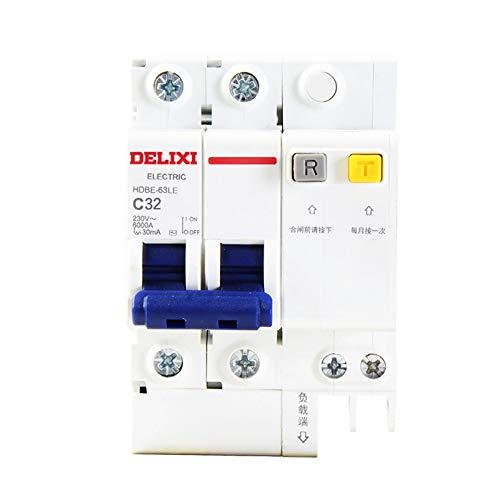 OIASD Interruptor de protección Interruptor de Circuito 2P32A Hogar Hogar Puerta Total...