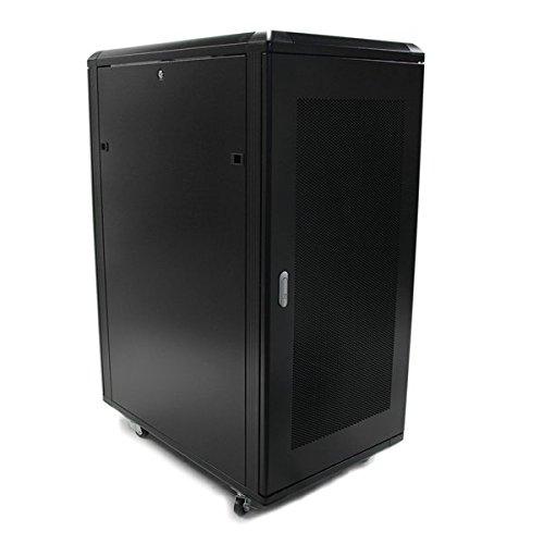 StarTech RK2536BKF 25HE Zerlegbares Server Schrank mit Rollen Schwarz