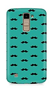 Amez designer printed 3d premium high quality back case cover forLG K10 (greenish blue moustache muchi beard)