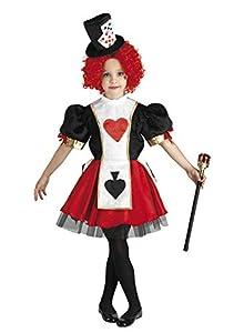 Clown Republic - Disfraz de Reina de Cartas, para niña, 17406/06, multicolor
