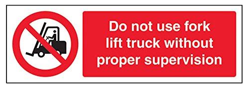 Preisvergleich Produktbild vsafety Patrone für Füllfederhalter ax-sNicht verwenden Gabelstapler Truck ohne Aufsicht Verbot Fahrzeug-Zeichen,  selbstklebend,  Landschaft,  300 mm x 100 mm,  schwarz / rot