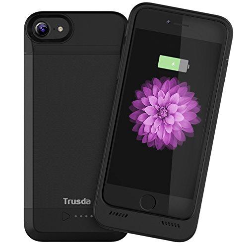 Akku Power Case [MFI Apple zertifiziert] Trusda 3100mAh iPhone 6 Akku Ultra dünnes Akku Case Hülle 130% Extra Akku für Apple iPhone 6 / 6s / 7 (4,7 Zoll) (Schwarz)