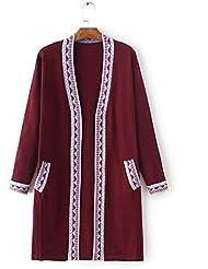 Ropa de mujer nueva coloreada suéter Cardigan de punto