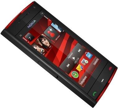 Nokia X6 Navigations Edition Smartphone (8,1 cm (3,2 Zoll) Display, Touchscreen, 5 Megapixel Kamera, 16 GB interner Speicher) schwarz / rot