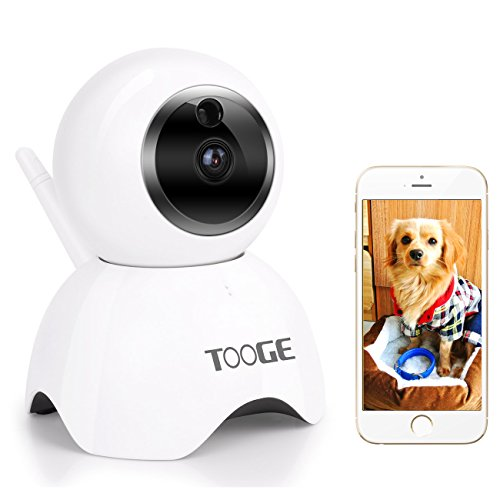 WiFi Camera,TOOGE Wireless Security IP Camera Home Indoor Surveillance Camera Nanny Cam with Pan/Tilt Two-way Audio Motion Detection
