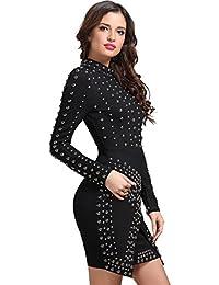6433eef734 Adyce Bandage-Dress vestidos de negro vestido de c¨®ctel informal de las