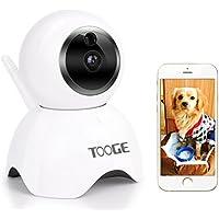 WiFi Kamera, tooge Wireless Sicherheit IP Kamera 720P Home Indoor Überwachung Kamera Nanny Cam mit Pan/Tilt Night Vision Zweiwege-Audio Bewegungserkennung