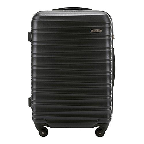 Wittchen WITTCHEN Mittlerer Koffer   Farbe: Schwarz   Material: ABS   Größe: 67 x 45 x 26 cm   Gewicht: 3.5 kg   Kapazität: 65 L   Sammlung: Groove Line   56-3A-312-10