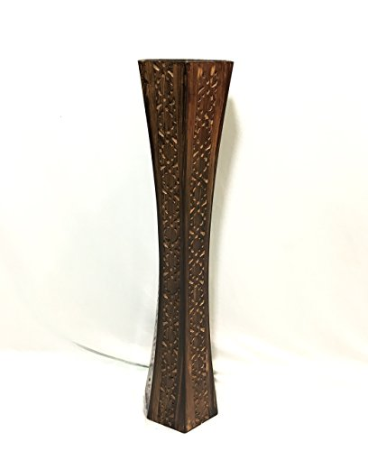 Badshah Gift Centre Nakkashi Wooden Stand(Standard, Brown, 15*15*60cm)