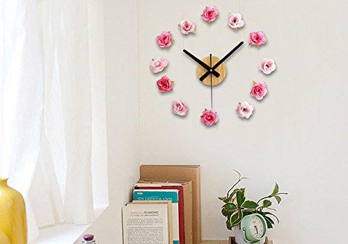 Orologi Da Parete In Tela : Nectaroy orologio da parete retro legna e tessuto di cotone fiore
