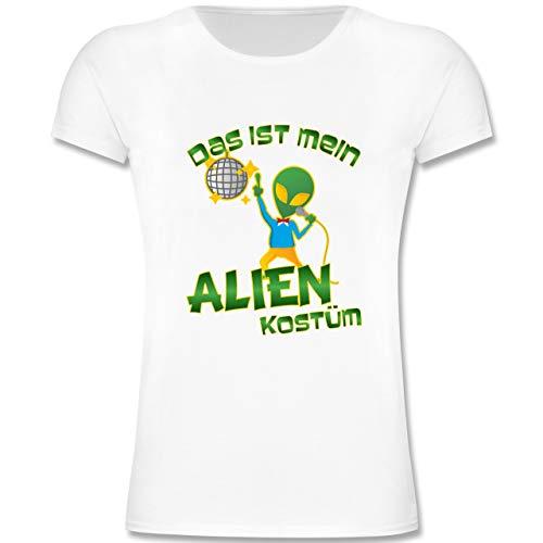 Kinder - Das ist Mein Alien Kostüm Disco - 164 (14-15 Jahre) - Weiß - F131K - Mädchen Kinder T-Shirt ()