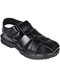 Luckyman Men's Black Sandals