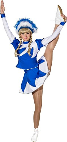 Orlob Damen Kostüm Garde Funkenkostüm blau-weiß Karneval Fasching Gr.42