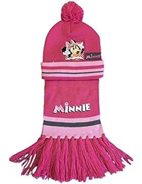 Girls/Boys Disney set sciarpa e cappello con logo ricamato