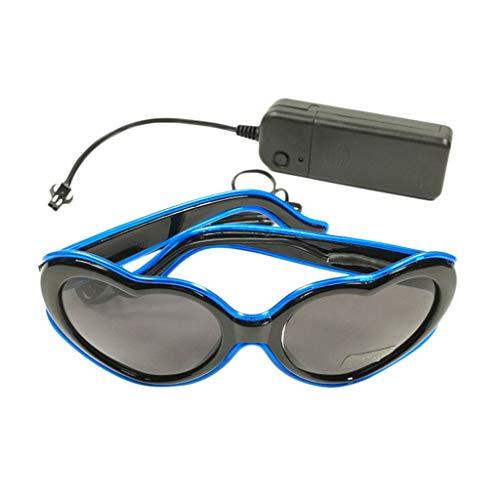 euchtend Mode LED-Brille Leuchten Shades Flashing Rave Hochzeitsfeier Neu ()