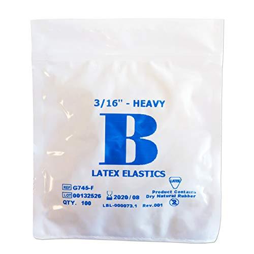 Bandas Elásticas Ortodoncia ~ Látex 3/16 4.5 oz
