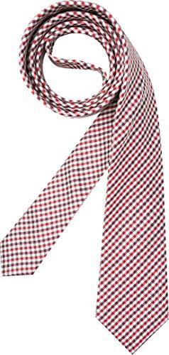 Hugo Boss Herren Krawatte Herren-Accessoire mit Karos, Größe: Onesize, Farbe: Rot