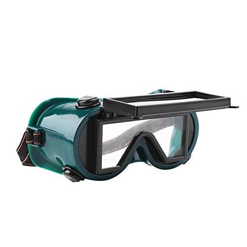 Giantree Solar Auto Verdunkelung Schatten Blendschutz Sicherheit Schutzbrille Brille Anti-Flog Blendschutzbrille Grün (Spiegel In Voller Länge, Grün)