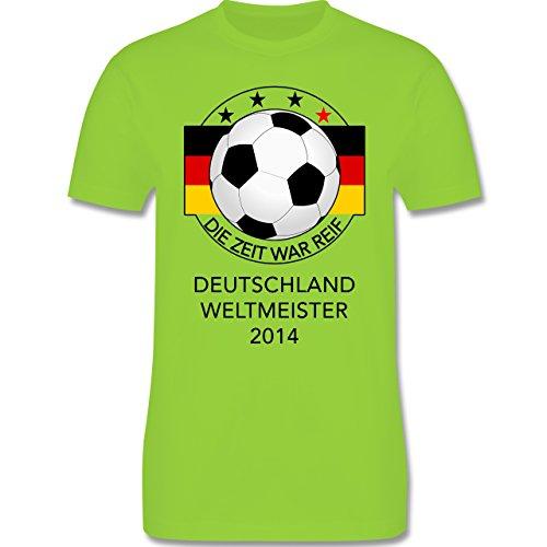 Fußball - Deutschland Weltmeister 2014 - Die Zeit war reif - Herren Premium T-Shirt Hellgrün