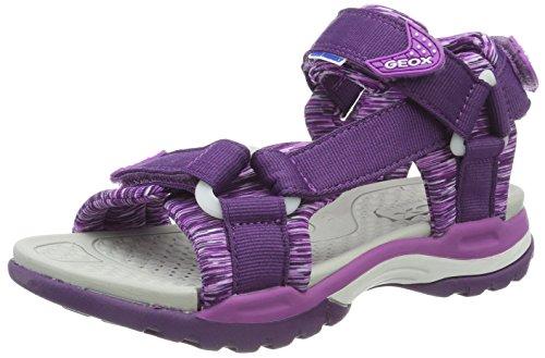Geox j borealis a, sandali punta aperta bambina, viola (violet/purple), 32 eu