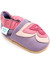 1ca23bee57d7 Dotty Fish Soft Leather Baby Shoes with Non Slip Suede Soles. 0-6 Months to  4-5 Years. Toddler Shoes. Animals