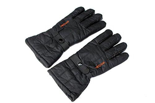 Darito Black Winter Leather Gloves For Men