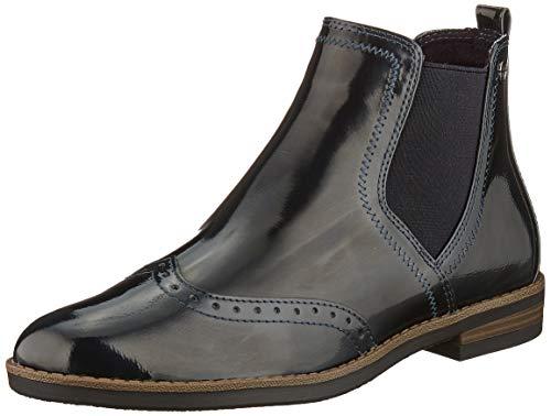 Tamaris Damen 1-1-25313-23 Chelsea Boots, Blau (Navy Patent 826), 38 EU