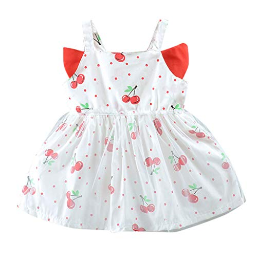 Mitlfuny Maedchen Audrey 1950er Vintage Hepburn Kleid Prinzessin Ballett Tutu Rock Party,Kleinkind Kind Baby Mädchen 3D Flügel Obst Print Tüll Party Prinzessin Kleid Kleidung