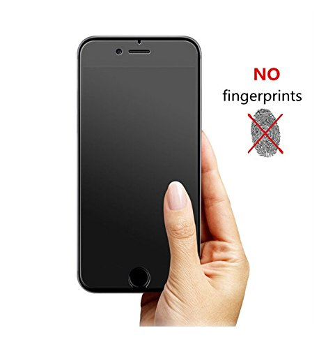 Plus Premium Crystal Matte Finish Anti Fingerprint HD Electroplated Scratch Shock Resistant Tempered Glass for Apple iPhone 6 / Apple iPhone 6S
