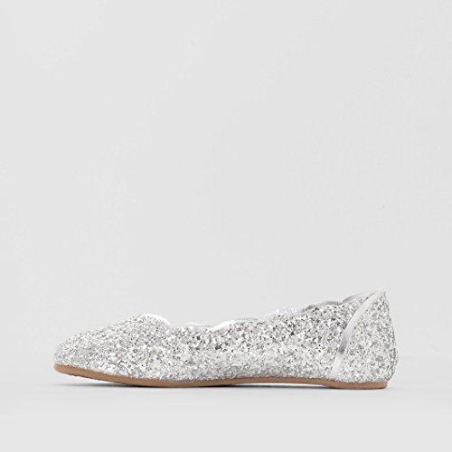 Abcd'r Mdchen Ballerinas, Pailletten Silberfarben