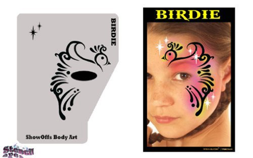 face-painting-stencil-profile-birdie-by-showoffs-body-art