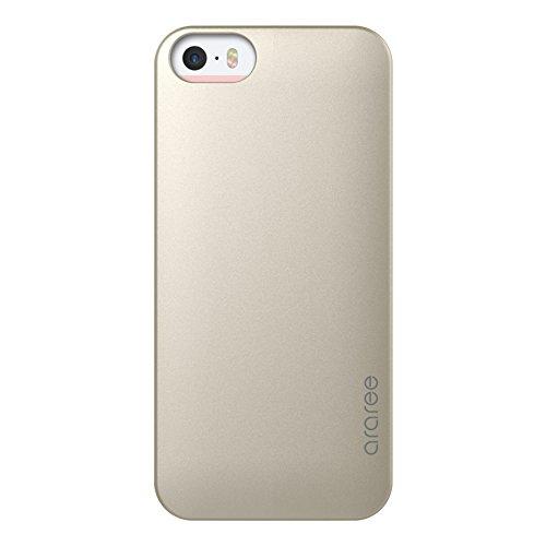 iPhone SE Fall, araree® [Hälfte] Ultra Slim und Superb Grip Praktische Karte Speicher für iPhone 5, 5S, SE (2016) Champagnerfarben / goldfarben